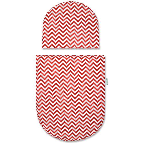 Babyrenka povlečení do kočárku kulaté 35x30,43x52 cm Little Arrows red PKKLAR140