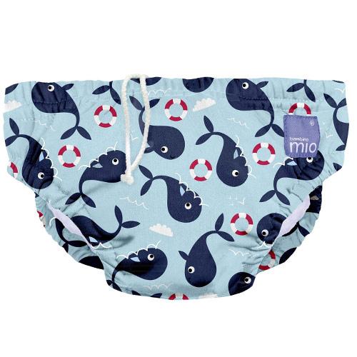 Bambino Mio koupací kalhotky L 9-12kg Whale wharf SWPL WHA