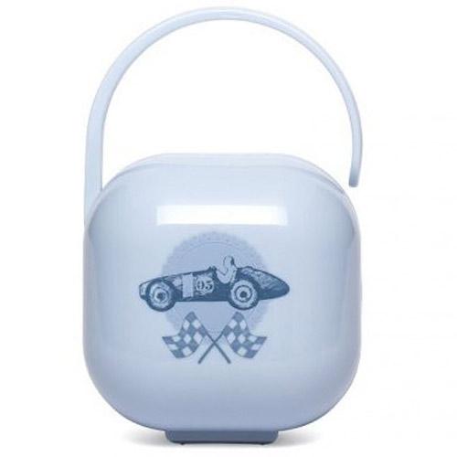 Suavinex krabička na dudlík Toys modrá 3800546T