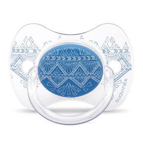 Suavinex Premium Couture 0-4 m dudlík fyziologický modrý 8426420045810