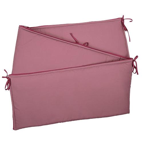 Babyrenka ochranný límec do postýlky 210 cm Uni old pink L210296OP
