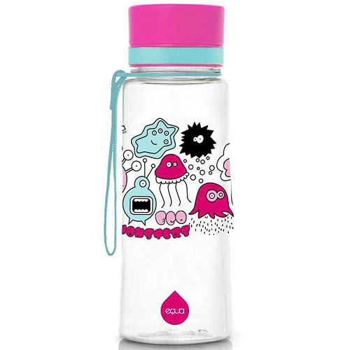 EQUA láhev z ekoplastu Pink Monsters 600 ml 3830054680005