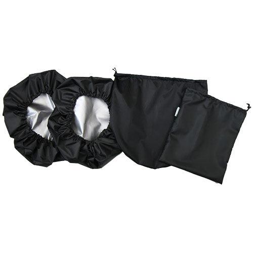 Babyrenka návleky na kola kočárku Thule Urban Glide 3 ks s taškou black NKTUGB170