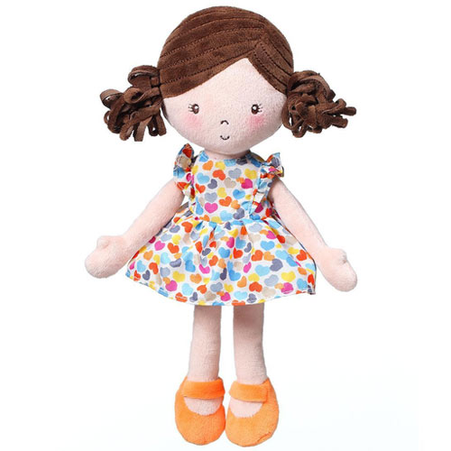 Baby Ono panenka látková Lena oranžová BO1157