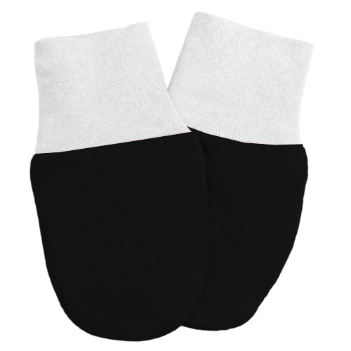 Babyrenka kojenecké rukavičky Úplet Black-White RKBW029