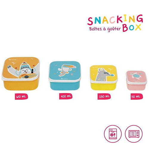 Badabulle svačinové misky Snacking box 4ks B005800