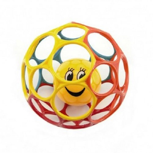 Teddies míček s chrastítkem mačkací měkký plast 12cm 311807