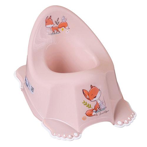 Tega Baby nočník protiskluzový hrající Lesní příběh růžový PO-069-107