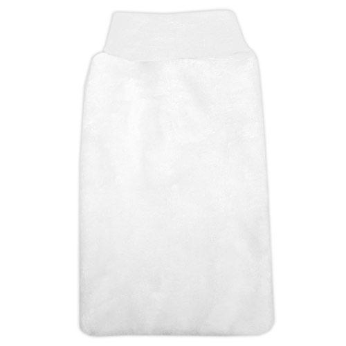 Babyrenka žínka Flanel Fleece s nápletem 25x16 cm White ZT036W