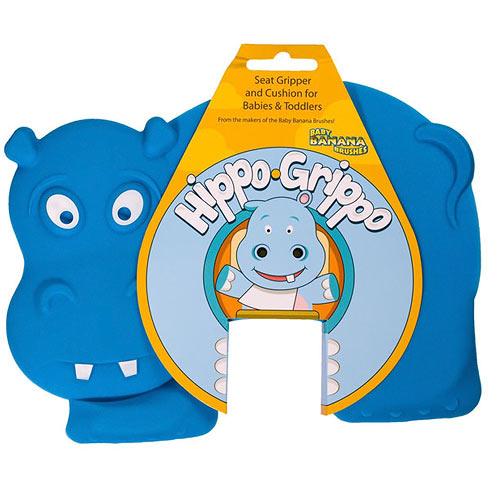 Baby Banana protiskluzové sedátko Hippo Grippo modré HIPPO