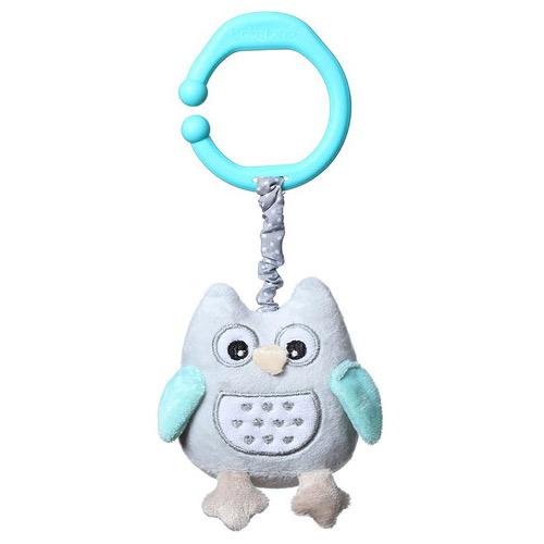 Baby Ono hračka s vibrací Sova modrá 442M