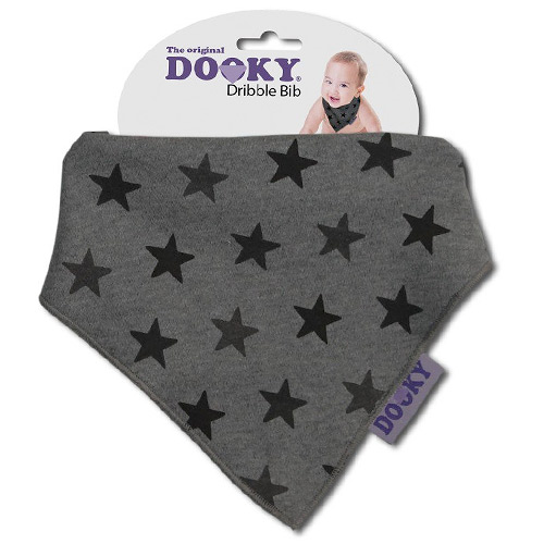 Dooky slintáček Dribble Bib Grey Star 126916