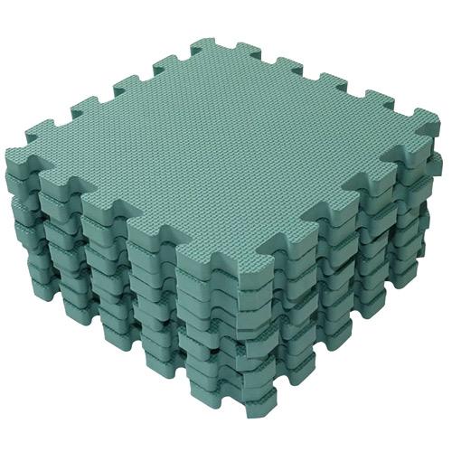 Baby Dan hrací podložka 90x90 cm Puzzle Dusty Green BD1000-51