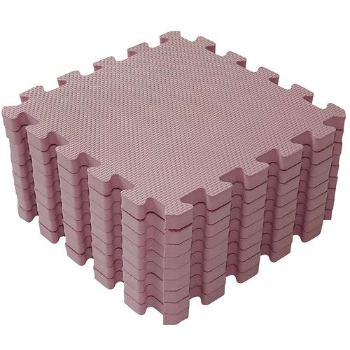 Baby Dan hrací podložka 90x90 cm Puzzle Dusty Rose BD1000-41