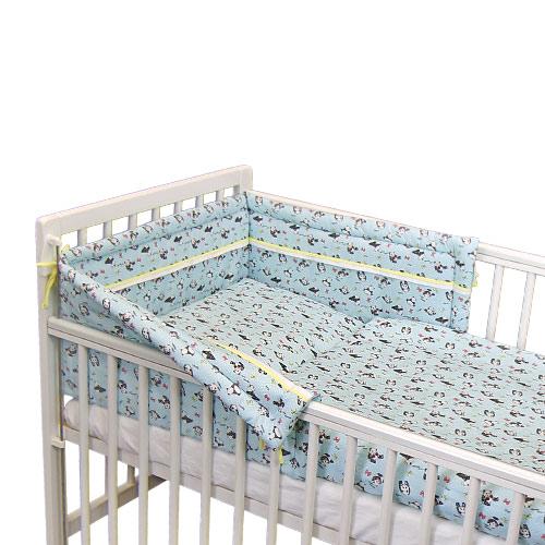 Babyrenka povlečení do postýlky třídílné 40x60,90x130 cm Panda blue 3DPB500
