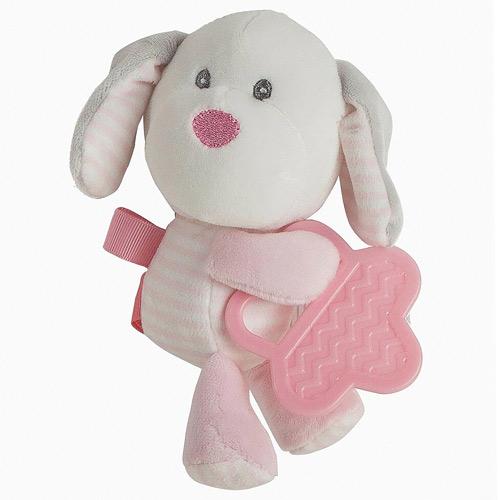 Little Kids plyšový pejsek s kousátkem růžový 25507