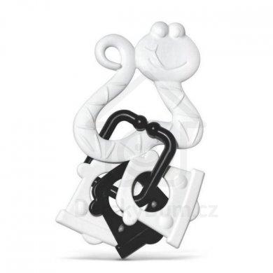 Profibaby kousátka zvířátka s přívěsky černobílé PB227CB