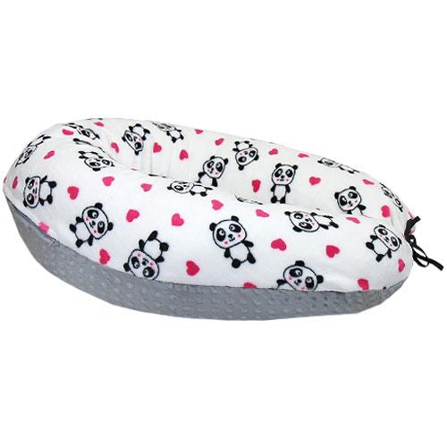 Babyrenka kojící polštář Minky Panda KPMP446