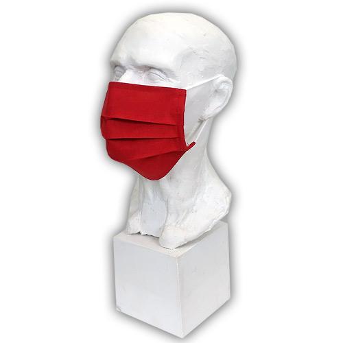 Babyrenka Bavlněná rouška na gumu s kapsou na filtr 18x10 cm Červená BRFG52-CERVENA