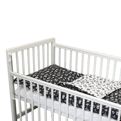 Babyrenka povlečení do postýlky dvoudílné 40x60, 90x130 cm Pirát černobílý 2DPC345