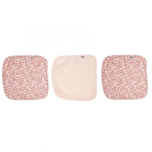 Bébé Jou žínka mušelínová na obličej Leopard pink 3 ks B3053123