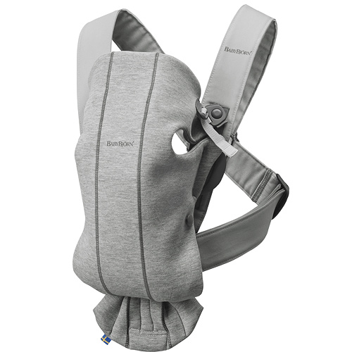 Baby Björn nosítko Mini Light Grey 3D Jersey 60-021072E1