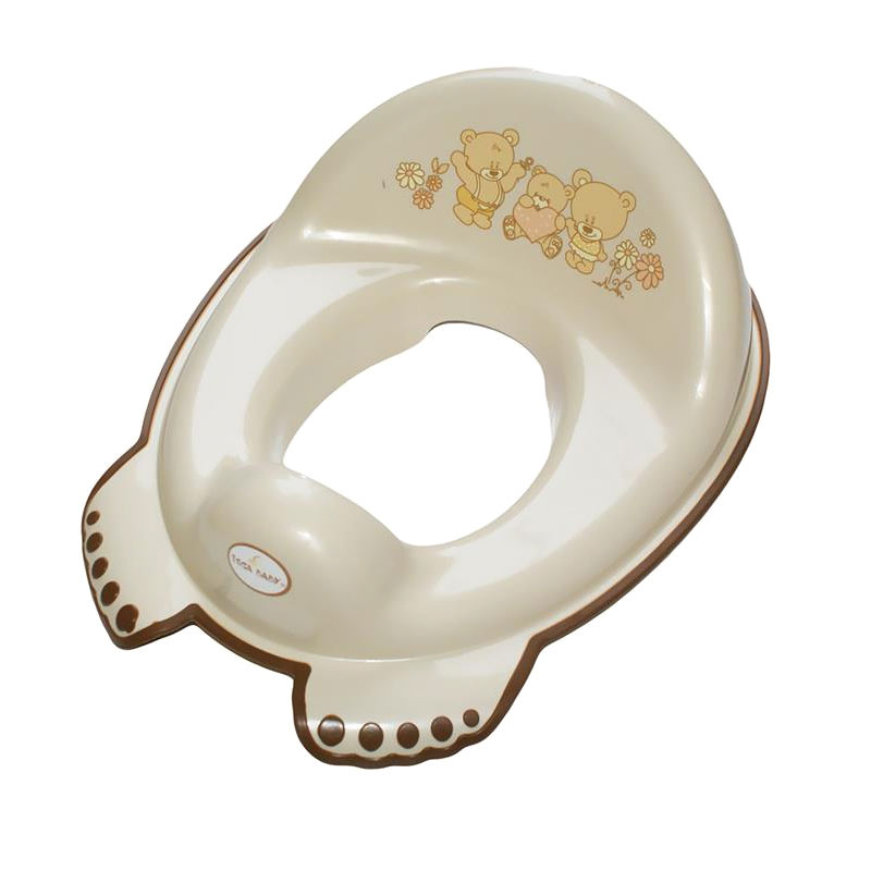 Tega Baby  dětské sedátko na WC protiskluzové Méďa perleťové MS-016-118