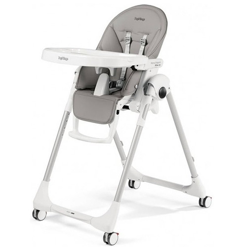 Peg Pérego jídelní židlička Prima Pappa Follow Me 2020 Ice s hrazdou na hraní 2IH0100124