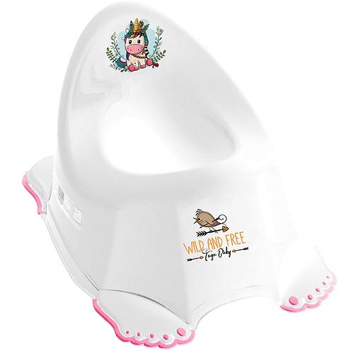 Tega Baby nočník protiskluzový hrající Divoký Západ Jednorožec bílý PO-075-103-J