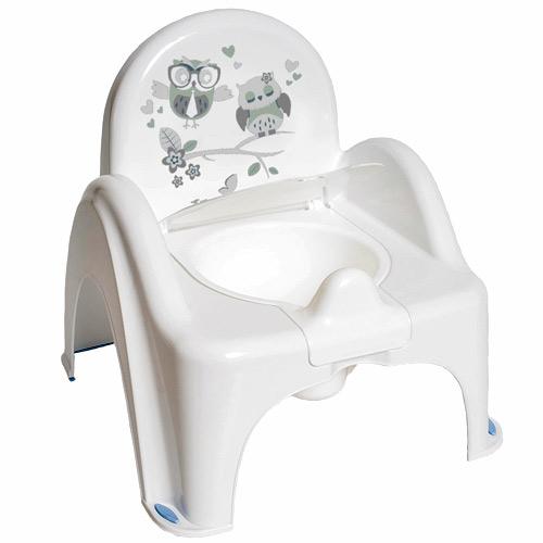 Tega Baby nočník Křeslo hrající Sovy bílé PO-064-103
