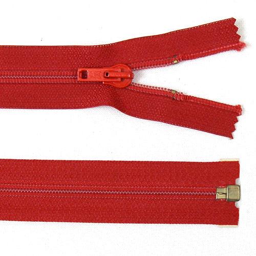 Zip spirálový dělitelný 85 cm červený ZSD85C