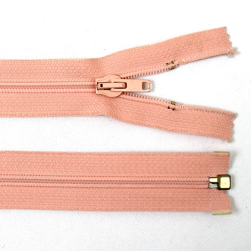 Zip spirálový dělitelný 85 cm lososový ZSD85L
