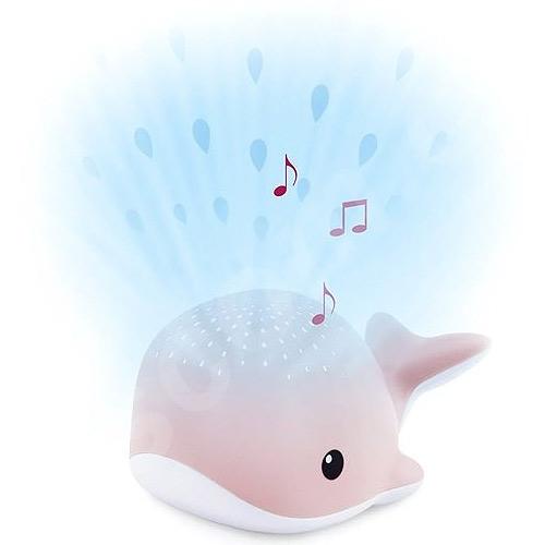 Zazu Velryba WALLY růžová noční projektor s melodiemi ZA-WALLY-03