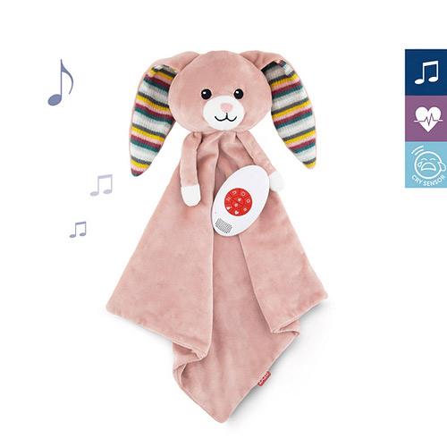 Zazu šumící muchláček s tlukotem srdce a melodií králíček Becky 0+ ZA-BECKY-01