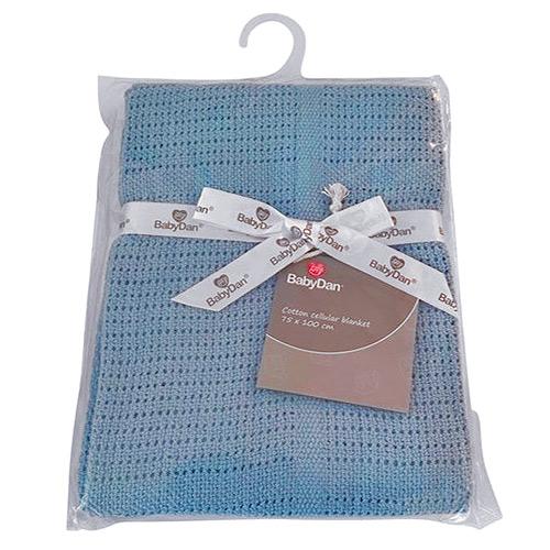 Baby Dan dětská deka háčkovaná 75x100 cm Dusty Blue 6359-31