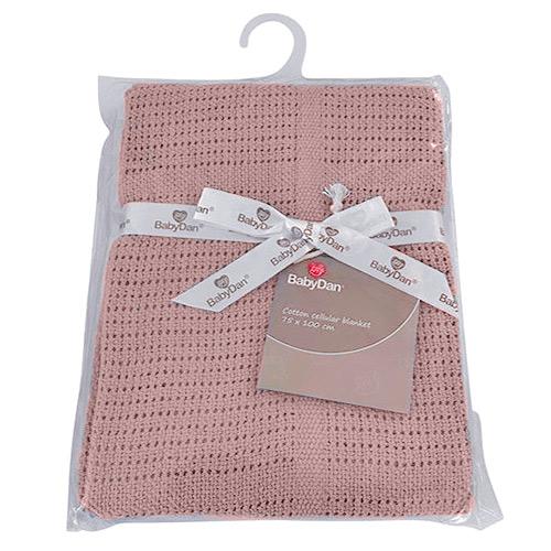 Baby Dan dětská deka háčkovaná 75x100 cm Dusty Rose 6359-41