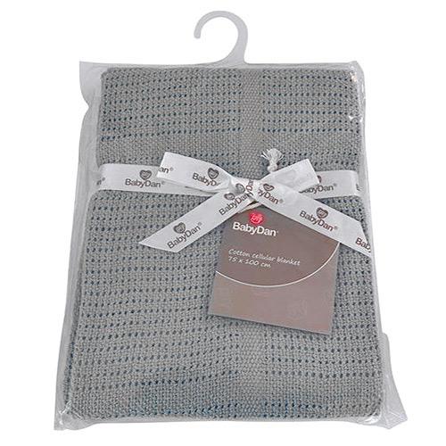 Baby Dan dětská deka háčkovaná 75x100 cm Grey 6359-20