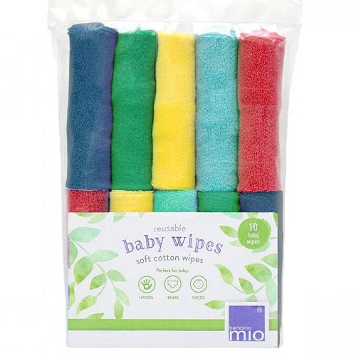 Bambino Mio opakovaně použitelné ubrousky 10 ks Rainbow RWP RAINBOW
