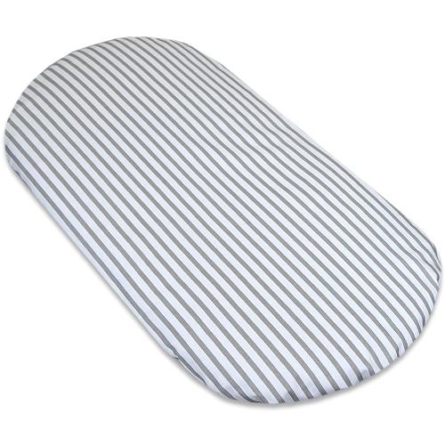 Babyrenka prostěradlo do kočárku 40x80 cm Stripes grey PKSG