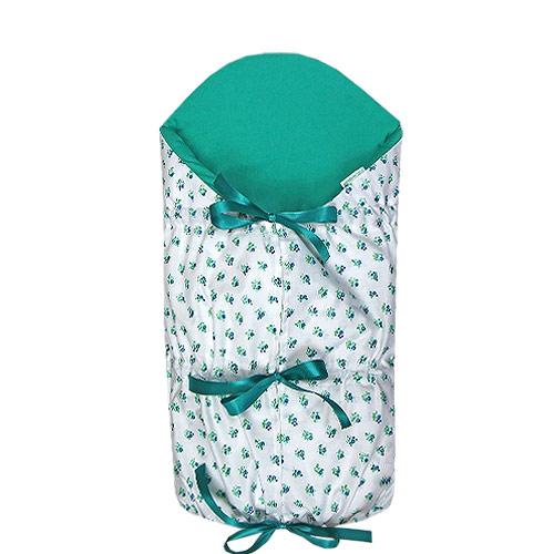 Babyrenka zavinovačka 80x80 stahovací s výztuží Ula Flowers smaragd Z8SVUFS