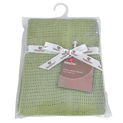 Baby Dan dětská deka háčkovaná 75x100 cm Dusty Green 6359-51