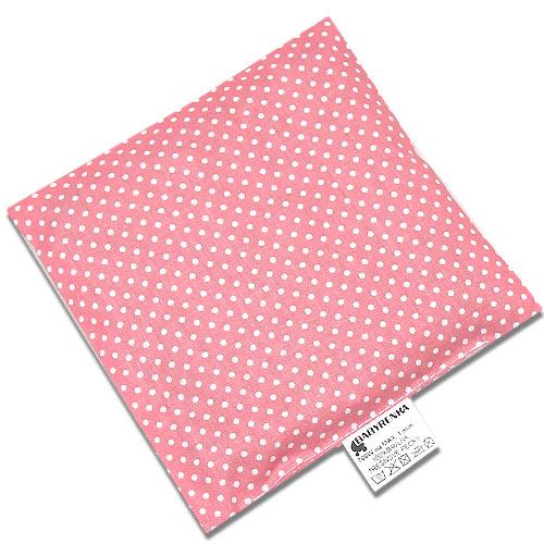Babyrenka nahřívací polštářek 15x15 cm z třešňových pecek Dots old pink PTPDOP47
