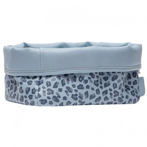 Bébé Jou textilní košík na kojenecké potřeby Leopard blue B3101122
