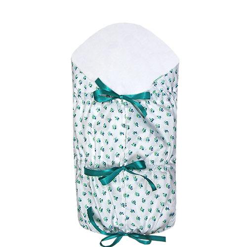 Babyrenka zavinovačka 80x80 stahovací s výztuží Flowers white Z8SVFW430