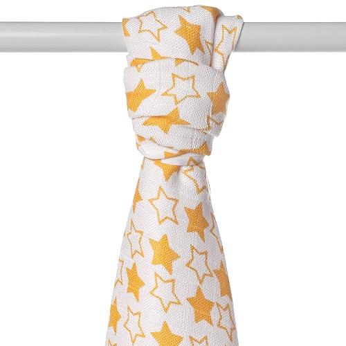 Xkko bambusová osuška 90x100 cm Little Stars Orange BMB090052
