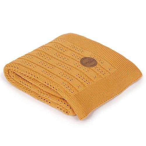 Ceba pletená deka 90x90 cm v dárkovém balení Rybí kost Peru W-812-109-147