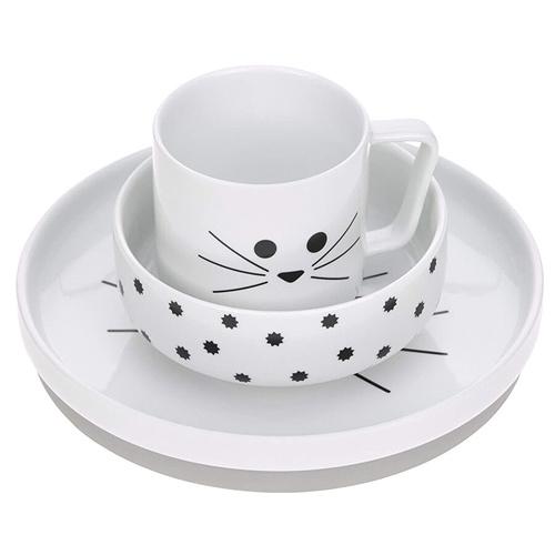 Lässig porcelánový jídelní set 3 díly Little Chums Cat