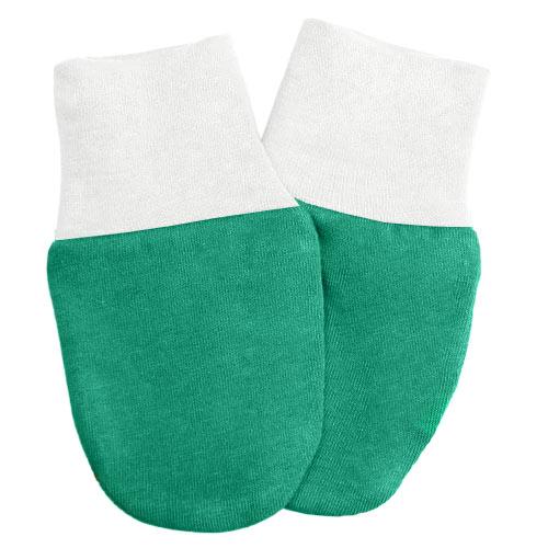Babyrenka kojenecké rukavičky Úplet Smaragd Bílá RKSB029