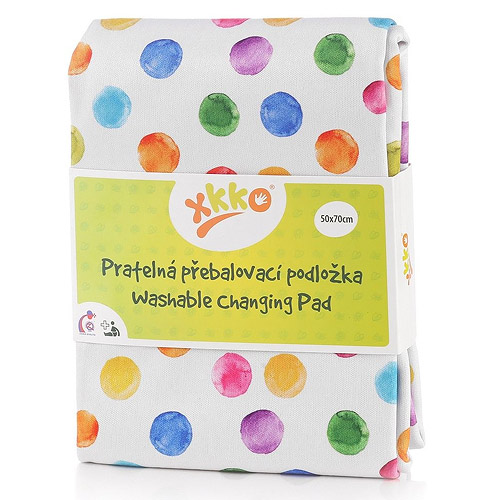 Xkko pratelná přebalovací podložka 50x70 cm Watercolour Polka Dots PULCHP07