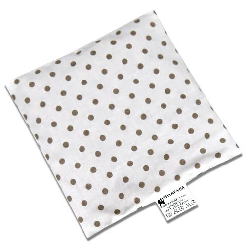 Babyrenka nahřívací polštářek 15x15 cm z třešňových pecek Puntík white grey PTPPWG47